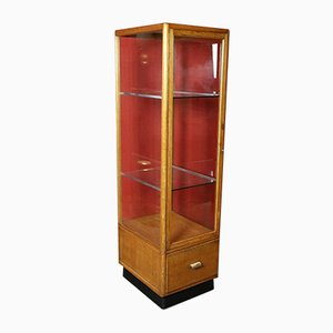Oak Shop Display Cabinet, 1950s