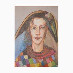 Portrait au Pastel de Petre Velicu, 1990s