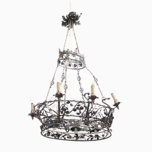 Wrought Iron Chandelier, 1930s