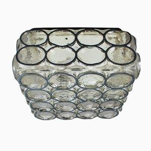 Plafón cuadrado de vidrio con anillos de hierro de Limburg, años 60