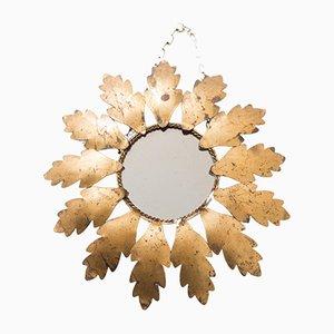 Metal Golden Sun Mirror, 1950s