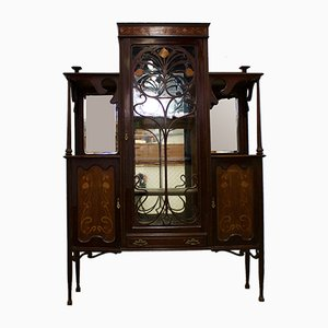 Large Antique Art Nouveau Display Cabinet, 1900s