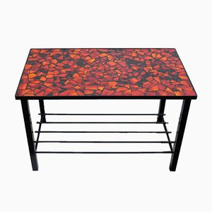 Mid-Century Coffee Lava Mosaic Table