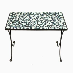 Metal and Mosaic Side Table, 1960s