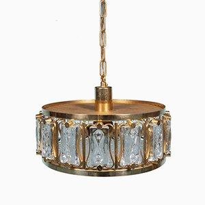 Lampe à Suspension Mid-Century en Cristal par Hans Agne Jakobsson pour Orrefors