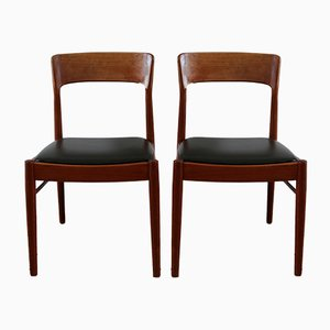 Scandinavian Teak Dining Chairs by Henning Kjærnulf for KS mobler, 1960s, Set of 4
