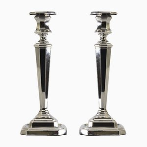 Sterling Silver Candleholders from J Dixon & Sons, 1918, Set of 2
