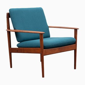 Dänischer Sessel mit Gestell aus Teak von Grete Jalk für Poul Jeppesens Møbelfabrik, 1950er