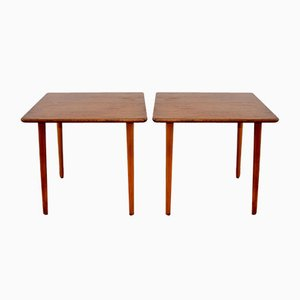 Scandinavian Teak Side Tables, 1960s, Set of 2