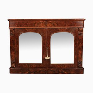 Antique Burr Walnut Side Cabinet