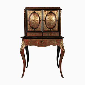 Schreibtischschrank mit Boulle Intarsien, 19. Jh.