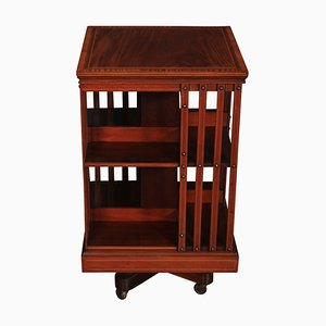 Antique Mahogany Revolving Bookcase from Maple & Co