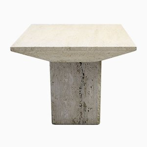 Vintage Travertine Side Table, 1970s