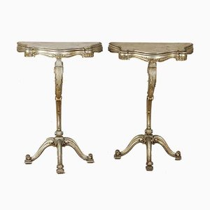 Eclectic Console Tables, 1950s, Set of 2