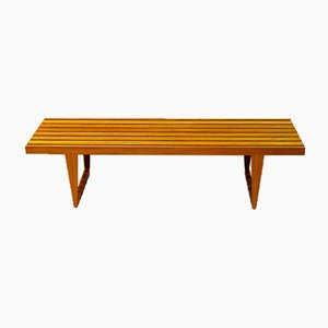 Mid-Century Oak Bench by Yngvar Sandström for Nordiska Kompaniet, 1960s