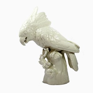 19th Century Porcelain Cockatoo Figurine from Nymphenburg