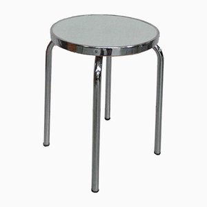 French Metal and Formica Stool, 1960s