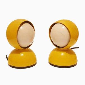 Gelbe Tischlampen von Vico Magistretti für Artemide, 1970er, 2er Set