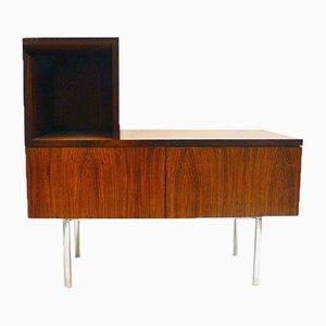 Muebles multifunción de palisandro y acero, años 60