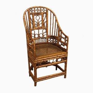Französischer Armlehnstuhl aus Bambus, 1950er