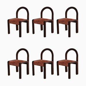 Mid-Century Italian Dining Chairs, 1970s, Set of 6