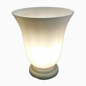 Vintage Tischlampe aus Opalglas