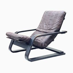 Danish Bentwood Lounge Chair, 1960s