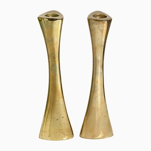 Swedish Brass Candleholders by Ytterberg for BCA Eskilstuna, 1960s, Set of 2