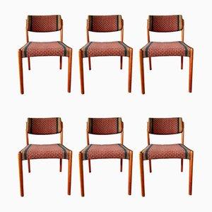 Dänische Vintage Esszimmerstühle aus Teak von H.W. Klein für Bramin, 1950er, 6er Set