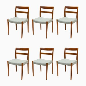 Teak Dining Chairs by Nils Jonsson for Hugo Troeds, 1960s, Set of 6