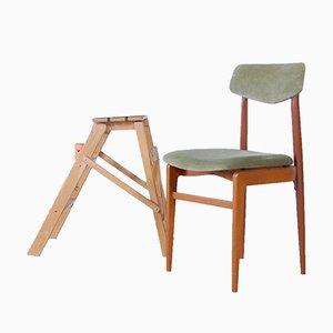 Silla de escritorio escandinava vintage, años 50