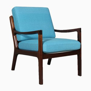 Mahogany Lounge Chair by Ole Wanscher for Cado, 1970s