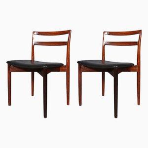 Esszimmerstühle aus Palisander von Harry Østergaard für Randers Møbelfabrik, 1960er, 2er Set