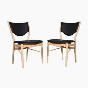 Mid-Century BO 63 Dining Chairs by Finn Juhl for Bovirke, Set of 2
