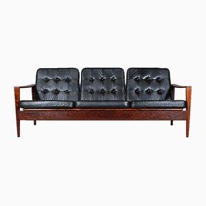 3-Sitzer Sofa mit Gestell aus Palisander von Illum Wikkelsø für Niels Eilersen, 1960er