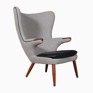 Danish Papa Bear Lounge Chair, 1950s