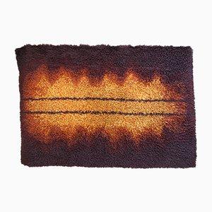Swedish Brown and Orange Woolen Carpet, 1960s