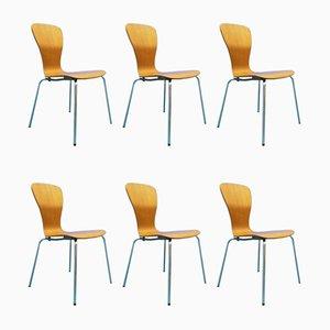 Chaises de Salle à Manger Nikke Mid-Century en Teck par Tapio Wirkkala pour Asko, Set de 6