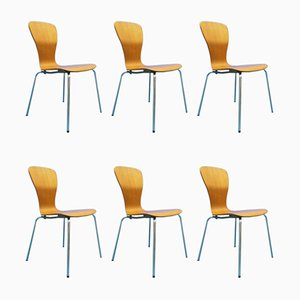 Mid-Century Teak Nikke Dining Chairs by Tapio Wirkkala for Asko, Set of 6