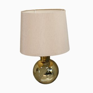 Swedish Golden Glass Table Lamp from Orrefors, 1960s