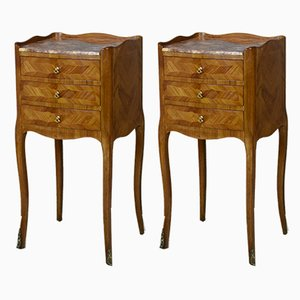 Antique French Nightstands, 1920s, Set of 2
