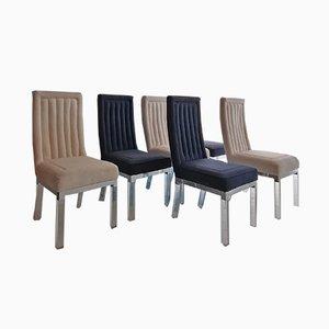 Esszimmerstühle mit Gestellen aus Plexiglas & Chrom von Charles Hollis Jones, 1970er, 6er Set