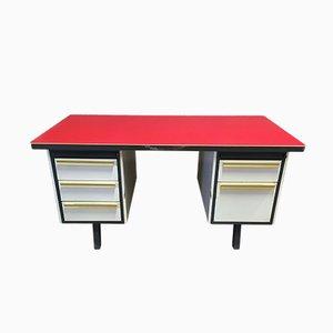 Industrieller Mid-Century Schreibtisch aus Bakelit & Stahl von Strafor, 1960er