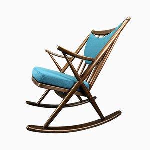 Rocking-chair par Frank Reenskaug pour Bramin Møbler, Danemark, années 60