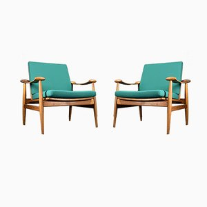 Teak Lounge Chairs by Finn Juhl for France & Søn / France & Daverkosen, 1960s, Set of 2
