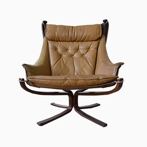 Mid-Century Winged Falcon Lounge Chairs by Sigurd Ressell for Vatne Lenestolfabrikk, 1970s, Set of 2