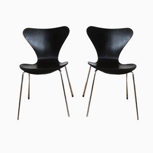 Esszimmerstühle von Arne Jacobsen für Fritz Hansen, 1997, 2er Set