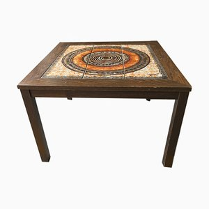 Swedish Tiled Side Table, 1970s