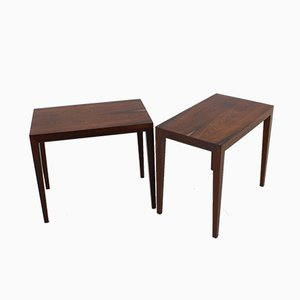Danish Rosewood Side Tables from Haslev Møbelsnedkeri, 1960s, Set of 2