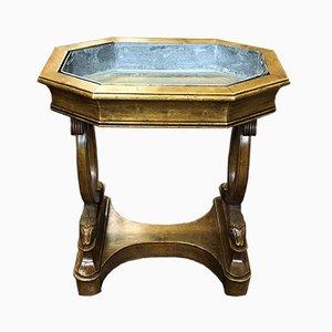 Antiker Pflanzentisch aus Mahagoni